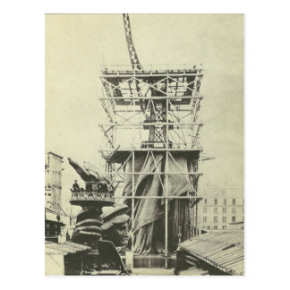 Statue of Liberty Test-Build in France Postcard