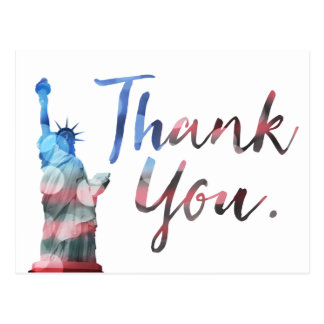 Statue of Liberty Thank You Veterans Postcard