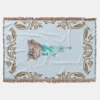 Statue-of Liberty Throw Blanket
