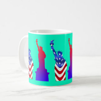 Statue of Liberty Turquoise Coffee Mug