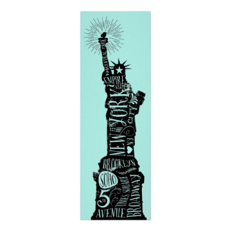 Statue of Liberty Typography Poster