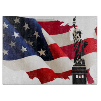 Statue of Liberty undulating flag Boards