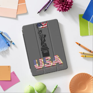 Statue of Liberty undulating flag iPad Air Cover