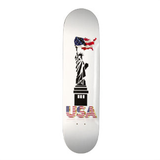 Statue of Liberty undulating flag Skate Board Deck