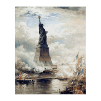 Statue of Liberty Unveiling 1886 Acrylic Wall Art