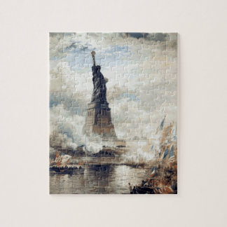 Statue of Liberty Unveiling 1886 Jigsaw Puzzle