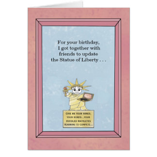 Statue of Liberty updated - Birthday Card