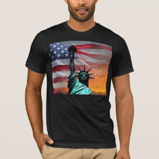 Statue of Liberty US Flag t-shirt