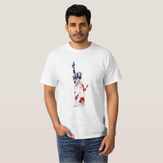 Statue of Liberty USA flag T-shirt