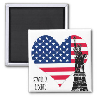 Statue of Liberty, USA, Travel Photo Fridge Gift Magnet