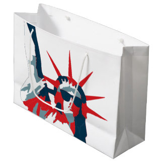 Statue of Liberty Wearing Sunglasses Large Gift Bag