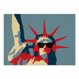 Statue of Liberty Wearing Sunglasses Poster