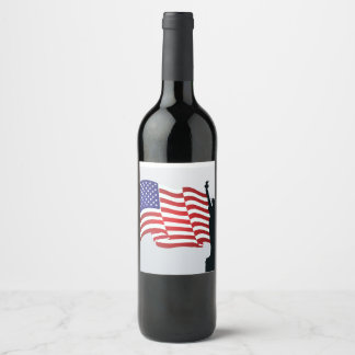 statue of liberty wine label