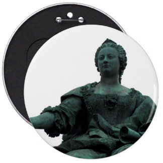 Statue Of Maria Theresia 6 Inch Round Button
