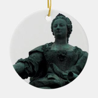 Statue Of Maria Theresia Round Ceramic Ornament