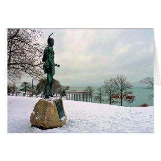 Statue of Massasoit in Plymouth, MA Card