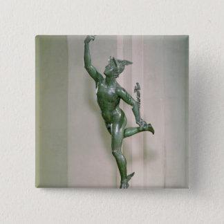 Statue of Mercury 2 Inch Square Button