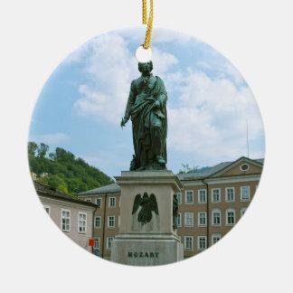 Statue of Mozart in Salzburg Ceramic Ornament