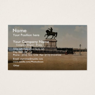 Statue of Napoleon I, Cherbourg, France classic Ph Business Card