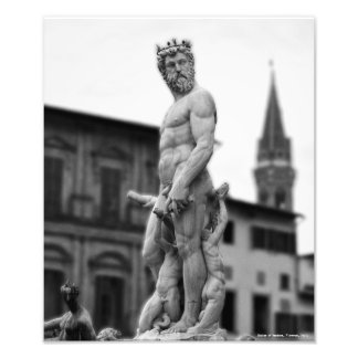 Statue of Neptune, Florence, Print
