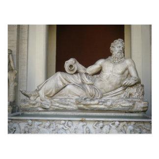 Statue of Neptune in Vatican Postcard