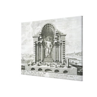 Statue of Olympian Zeus, made by Phidias in gold a Canvas Print