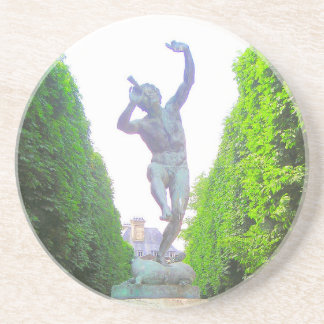 Statue of Pan, Luxembourg Garden, Paris France Beverage Coasters
