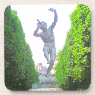Statue of Pan, Luxembourg Garden, Paris France Coaster