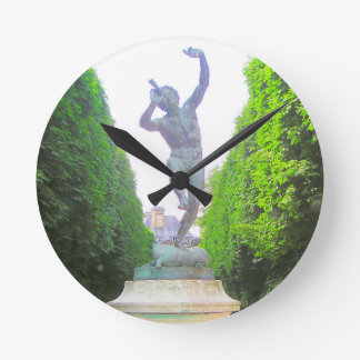 Statue of Pan, Luxembourg Garden, Paris France Wallclocks