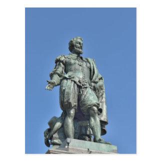 Statue of Peter Paul Rubens in Antwerp Postcard