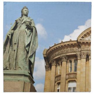 Statue of Queen Victoria in Birmingham, England Napkin