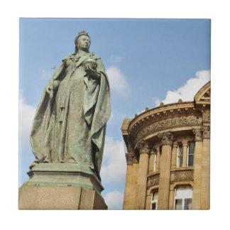 Statue of Queen Victoria in Birmingham, England Tile