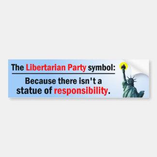 Statue Of Responsibility Bumper Sticker