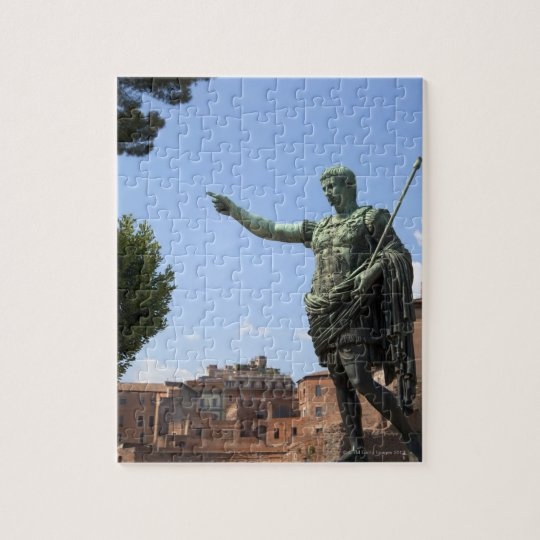 Statue of Roman emperor near the Roman Forum Jigsaw Puzzle