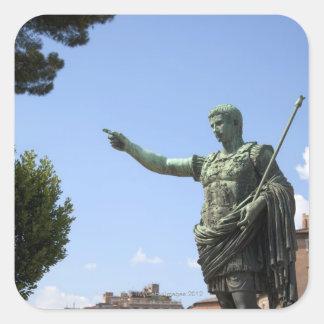 Statue of Roman emperor near the Roman Forum Square Sticker