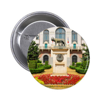 Statue of Romulus and Remus in Mures, Romania 2 Inch Round Button