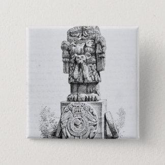 Statue of the Goddess Coatlicue 2 Inch Square Button