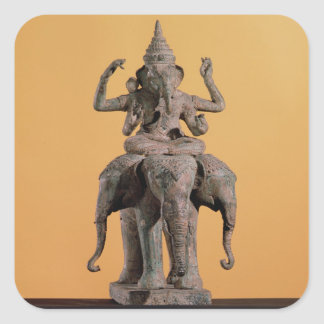 Statue of the Hindu God Ganesh Square Sticker