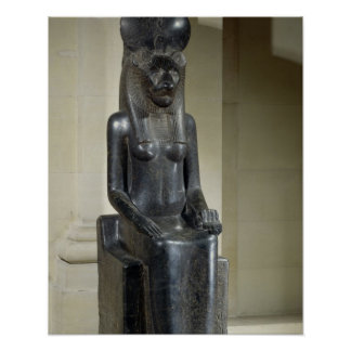 Statue of the lion-headed goddess Sekhmet, from th Poster