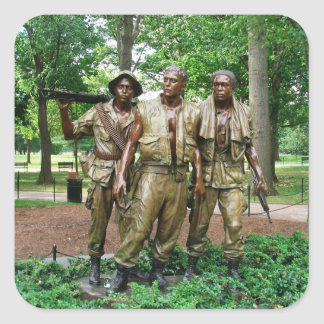 Statue of the Three Servicemen | Vietnam War Square Sticker