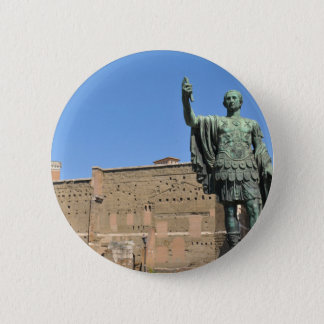 Statue of Trajan in Rome, Italy 2 Inch Round Button