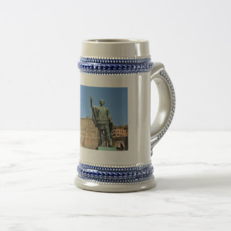Statue of Trajan in Rome, Italy Beer Stein