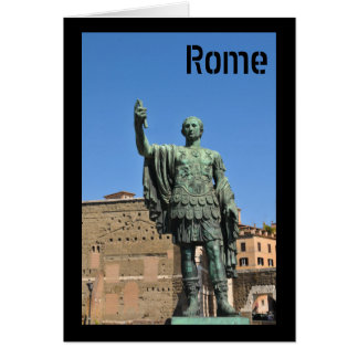 Statue of Trajan in Rome, Italy Card