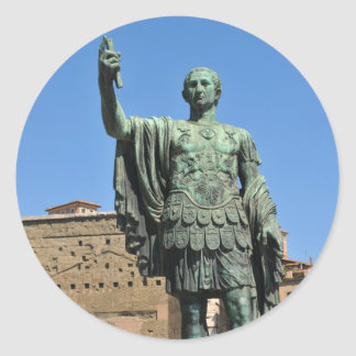 Statue of Trajan in Rome, Italy Classic Round Sticker