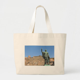 Statue of Trajan in Rome, Italy Large Tote Bag