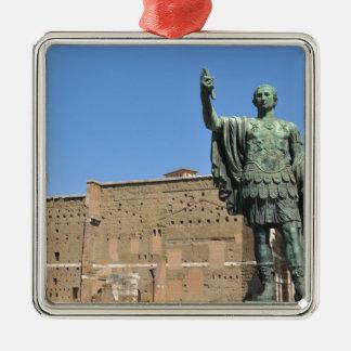 Statue of Trajan in Rome, Italy Metal Ornament