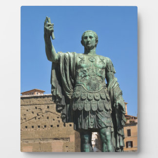 Statue of Trajan in Rome, Italy Plaque