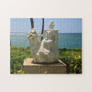 Statue of Woman Playing Flute, Waikoloa, Hawaii Jigsaw Puzzle