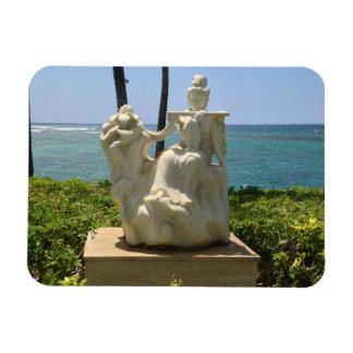 Statue of Woman Playing Flute, Waikoloa, Hawaii Magnet