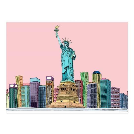 Statue Postcard